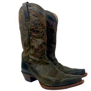 Tony Lama Sierra Goldrush Distressed Leather Boots